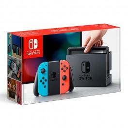 Consola Switch Azul Neón - Rojo Neón